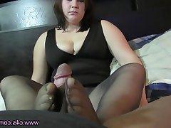 Blowjob, Foot Fetish, Pantyhose, Stockings