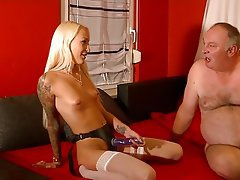 Old and Young, Anal, Cum in mouth, German