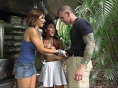 Whore, Threesome, Threesome, Outdoor