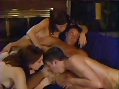 Bisexual, Cumshot, Group Sex, Stockings