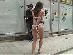 BDSM, Brunette, Public, BDSM
