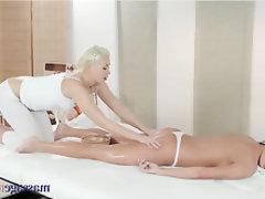 Lesbian, Teen, Massage