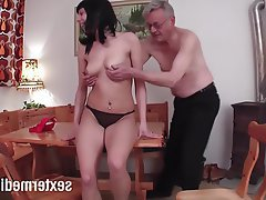 German, Teen, Voyeur, Handjob